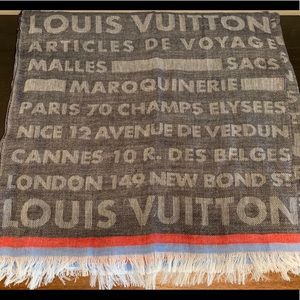 Louis Vuitton Trunk Stamps Winter Stole Scarf